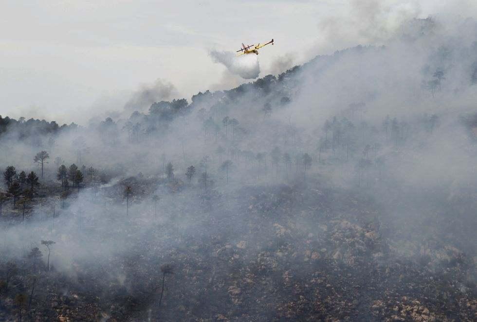 Incendii devastatoare langa Madrid. 2.000 de oameni au fost evacuati