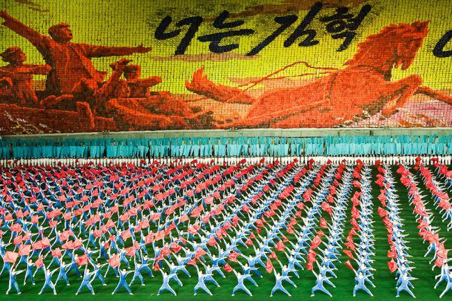 Coregrafie cu 100.000 de oameni, la un spectacol pentru liderul nord-coreean