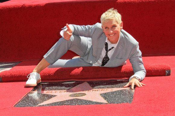Ellen DeGeneres a primit o stea pe Walk of Fame