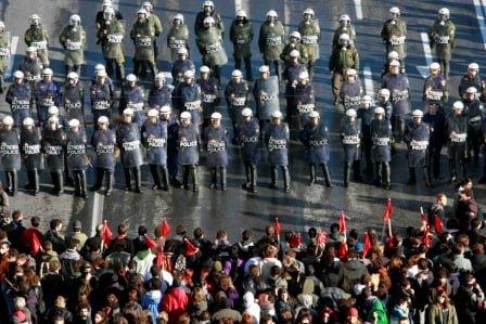 30.000 de greci au iesit in strada