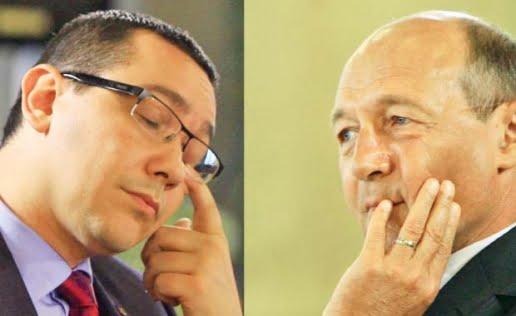 Basescu: Stiu ca pot servi interesele Romaniei mult mai bine. Ponta: Pozitia unei tari nu reprezinta apanajul unui singur om