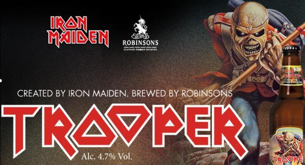 Iron Maiden isi va lansa propriul brand de bere, Trooper