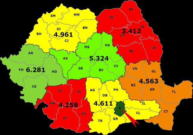 REGIONALIZAREA: Harta bunastarii si a dezastrelor in Romania!