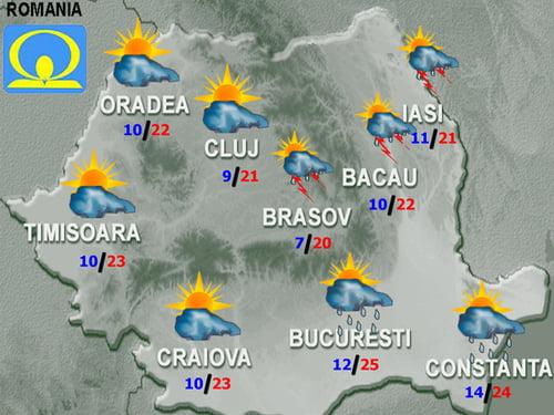VREME racoroasa in weekend! Vezi ce temperaturi vor fi in Bucuresti, la munte si la mare!
