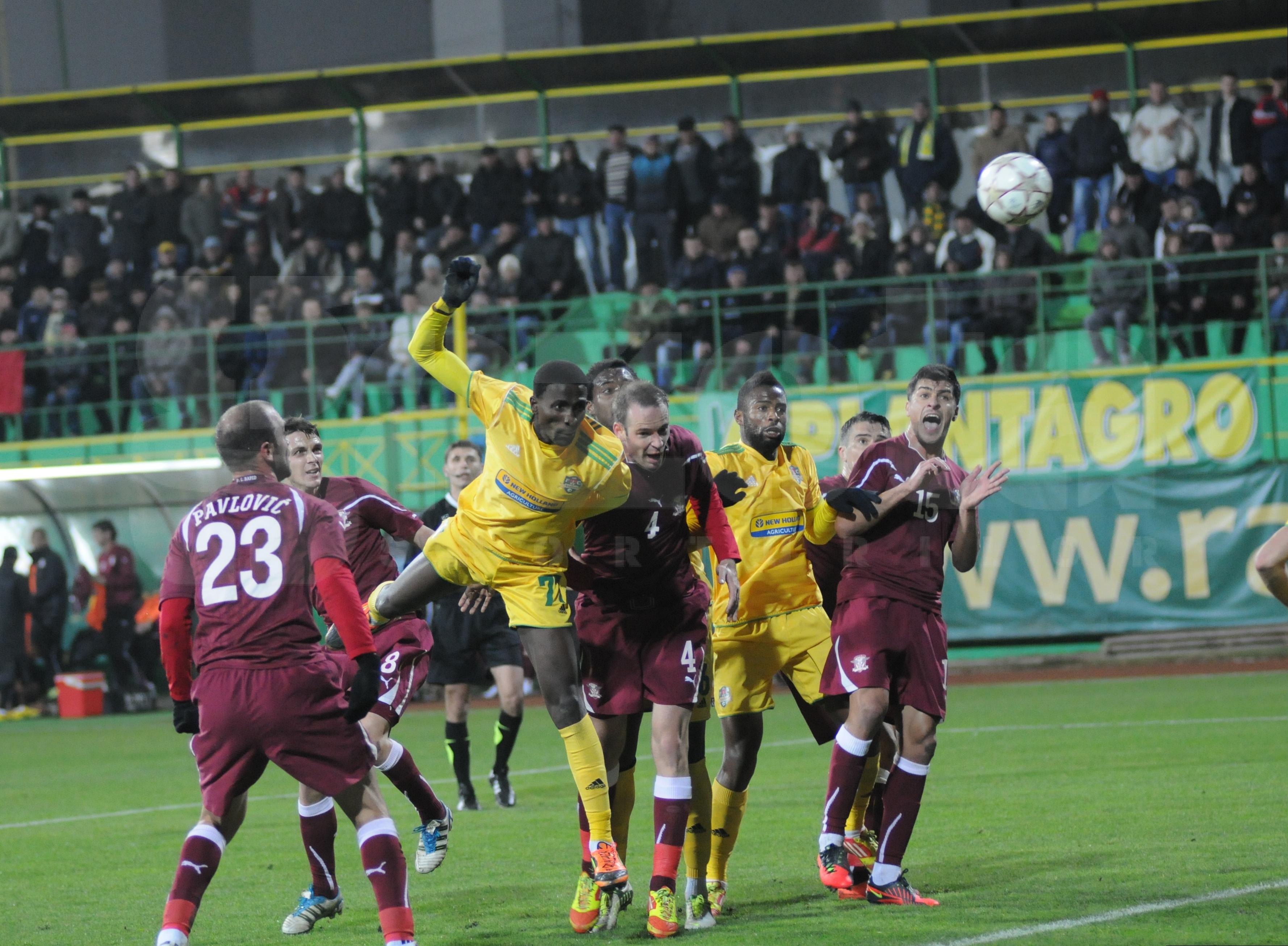 FC Vaslui a invins, scor 2-1, pe Rapid Bucuresti! VIDEO