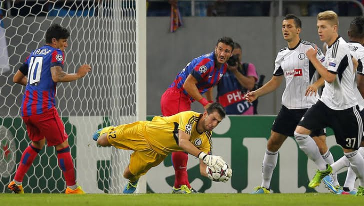 Steaua merge in grupele Champions League dupa 2-2 cu Legia Varsovia! VIDEO