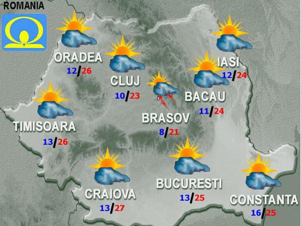 Cum va fi VREMEA in weekend! Vezi temperaturile pentru sambata si duminica in tara, la munte si la mare!