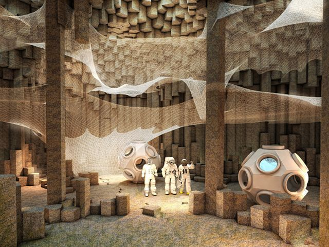 Arhitectii au dezvaluit cum ar putea arata o asezare umana pe Marte! GALERIE FOTO