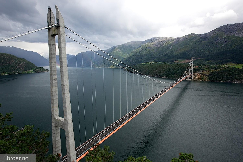 Cum arata cel mai lung pod suspendat intre doua tuneluri din lume, aflat in Norvegia! GALERIE FOTO