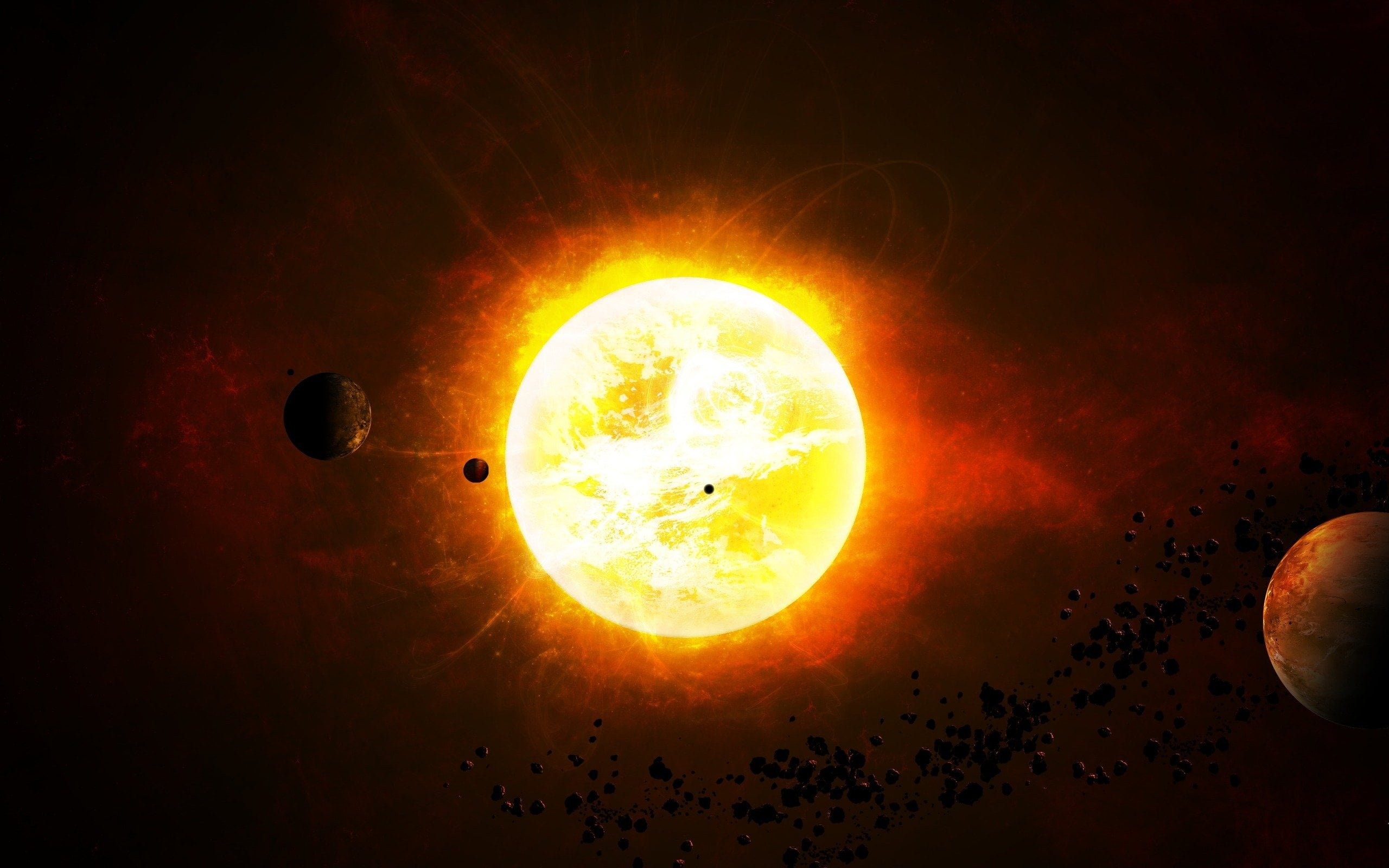 """""""INCEPUTUL SFARSITULUI"""" va fi declansat de Soare, prajind toate planetele din calea sa! FOTO"""