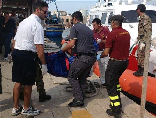 Peste 130 de morti si 200 de disparuti, dupa NAUFRAGIUL din Lampedusa! FOTO