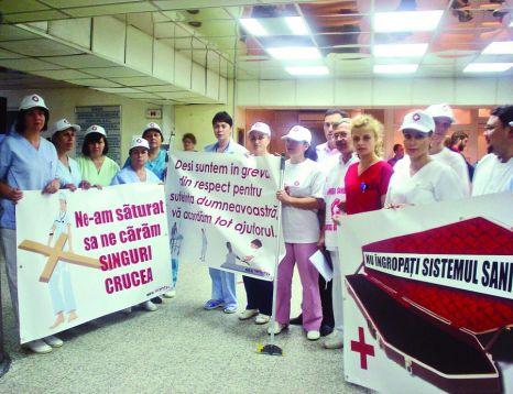 GREVA JAPONEZA in sistemul sanitar timp de trei zile, angajatii purtand o banderola tricolora!