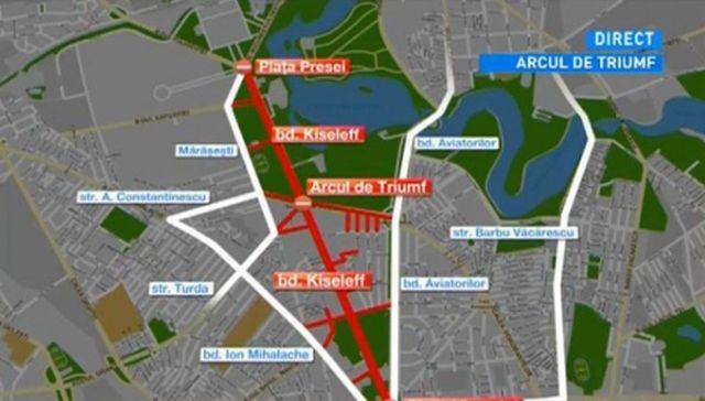 Parada de 1 Decembrie aduce mai multe restrictii in traficul bucurestean! Vezi care sunt strazile blocate si rutele ocolitoare!