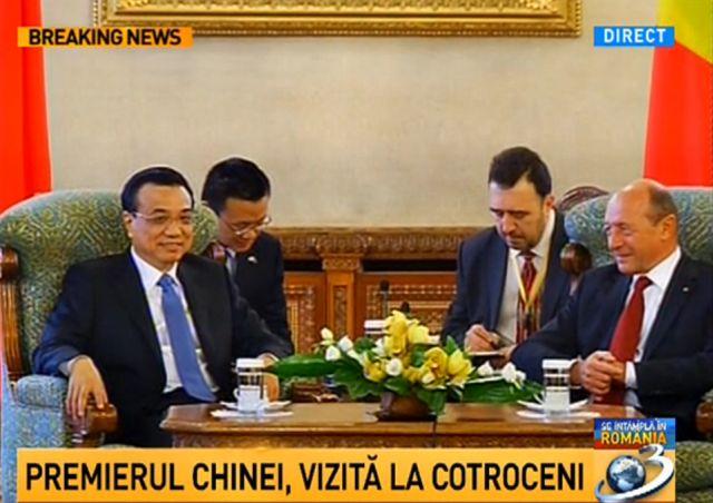 Traian Basescu l-a primit la Cotroceni pe Li Keqiang, premierul Chinei!