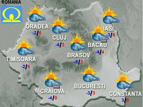 Cum va fi VREMEA in weekend, in tara, la Bucuresti si la munte!