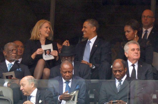 """Ce """"misto"""" a fost pentru Obama la funeraliile lui Nelson Mandela!"""