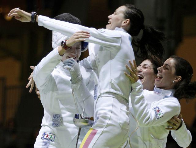Echipa feminina de SPADA a Romaniei a castigat AURUL in prima etapa a CM 2014 de la Doha!