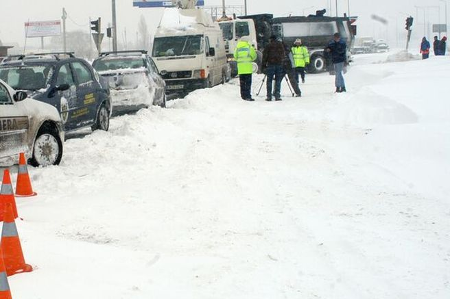 Autostrada A2 a fost inchisa pe tronsonul Bucuresti-Fetesti