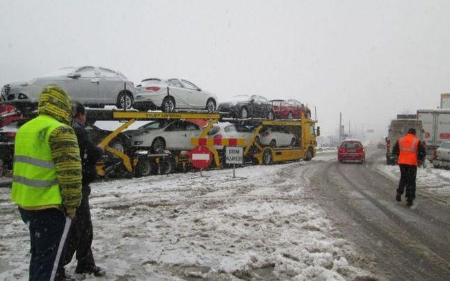 Pe DN 10 Limita Municipiului Buzau – Limita judet Covasna a fost impusa restrictie de tonaj pentru vehicule cu masa totala maxima autorizata mai mare de 7,5 tone