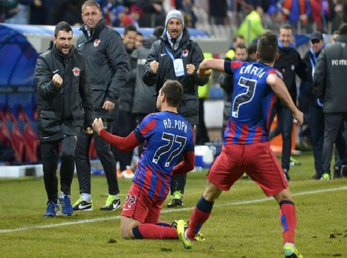 Steaua trece cu usurinta de U Cluj, scor 2-0! VIDEO