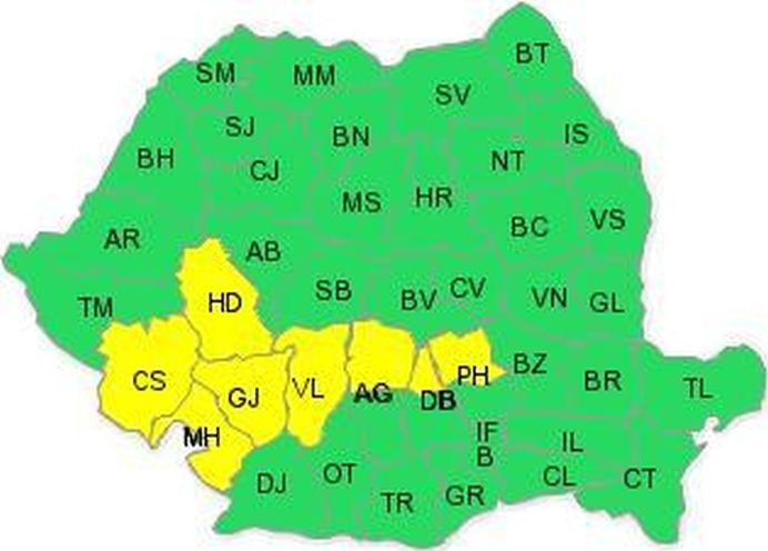 Se intorc ploile in Romania! COD GALBEN de ploi, grindina si vijelii! Vezi zonele afectate!1