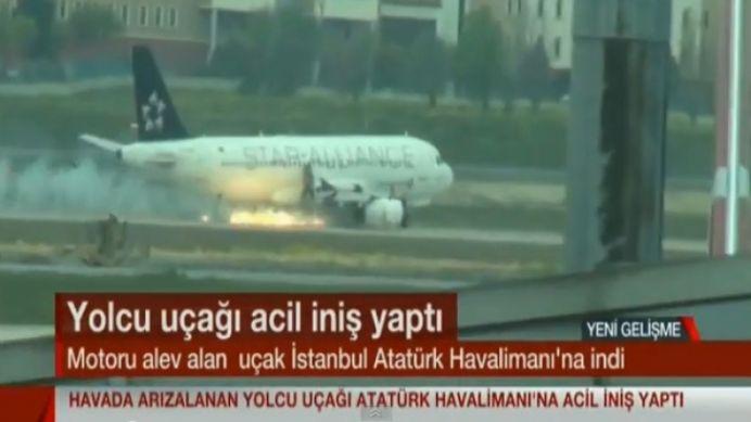 VIDEO Un avion IN FLACARI a aterizat DRAMATIC la Istanbul!