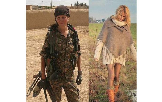 Un fotomodel celebru a lasat fustele scurte pentru mitraliera si s-a dus sa OMOARE teroristi!