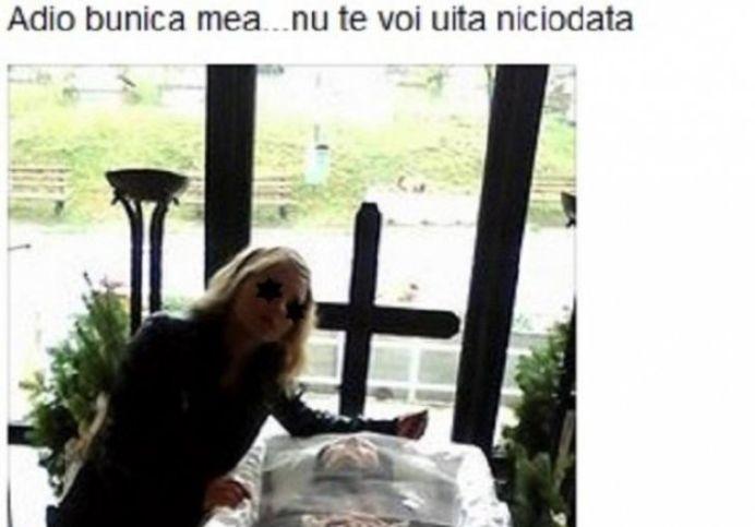 """FOTO – Cel mai STUPID selfie din istorie vine de a Cluj! """"Adio, bunica mea!"""""""