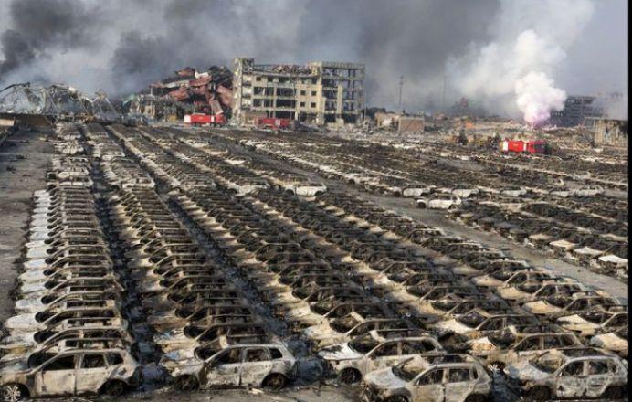 FOTO – La Tianjin, in China, a explodat o BOMBA ATOMICA iar autoritatile MUSAMALIZEAZA cazul!