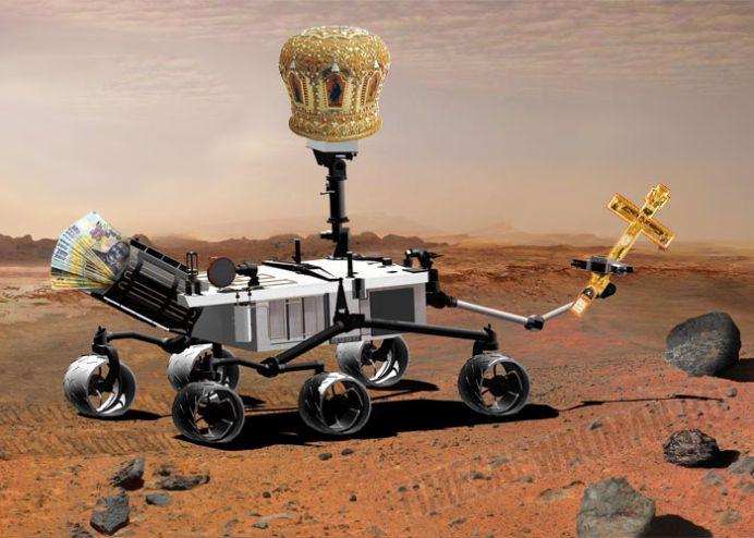 Descoperirea apei pe Marte in realitatea romaneasca! Patriarhul Daniel trimite robotul Religiosity sa sfinteasca apa de pe Marte!