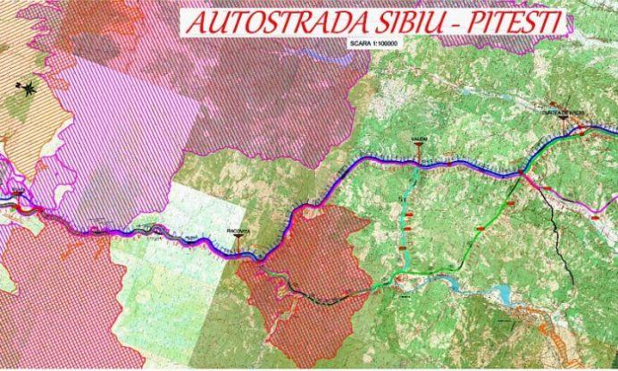 Autostrada cu 7 tuneluri pe Valea Oltului! Vezi PLANURILE OFICIALE ale CNADNR pentru autostrada Sibiu-Pitesti!