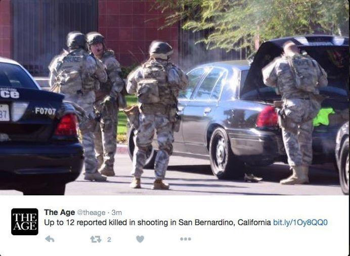 ATAC ARMAT langa Los Angeles, incheiat cu 14 morti si 17 raniti! Teroristii au echipamente militare si mitraliere!