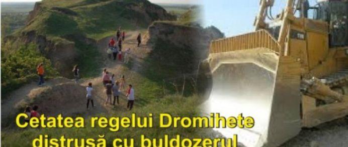 """Au bagat BULDOZERELE in cetatea sfanta a MARELUI REGE DAC! Arheolog: """"Zona a fost complet compromisa!"""""""