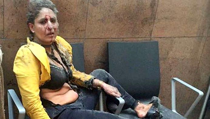 Cine este aceasta femeie? Imaginea vazuta de MILIOANE de oameni, devenit SIMBOL al atacurilor din Bruxelles!
