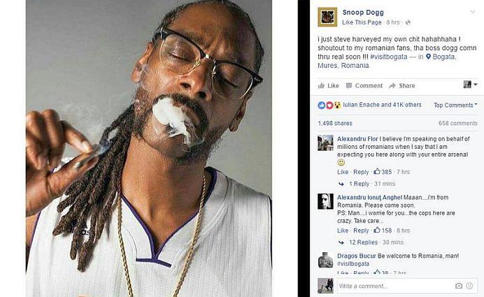 """Celebrul rapper Snoop Dog accepta invitatia romanilor! Va vizita satul Bogata """"foarte curand""""!"""