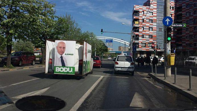 Sebastian Bodu isi face RECLAMA in Bucuresti cu sprijinul CONTROVERSATULUI om de afaceri Ilie Potecaru!