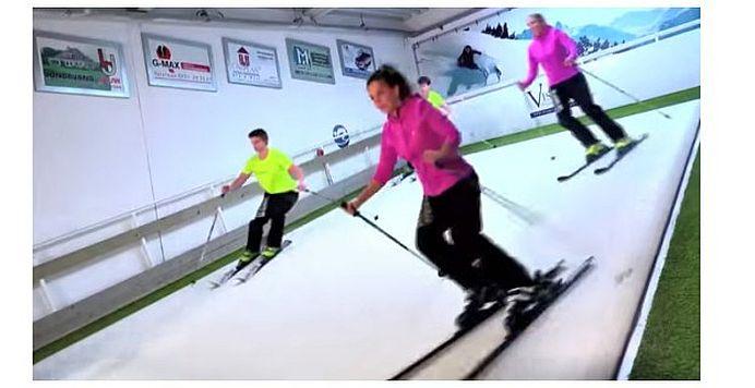 VIDEO –  Cum se poate schia la Timisoara, chiar si in miez de vara! E unic in tara!