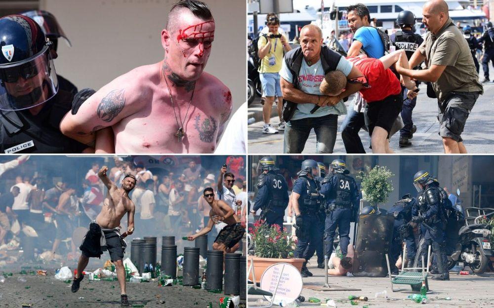 VIDEO SOCANT – Macel la Euro 2016! Mii de suporteri au transformat strazile si stadionul in camp de lupta!