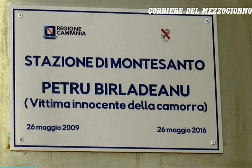 FOTO – O statie de metrou in Italia poarta numele unui roman, asasinat fara motiv de Mafie!