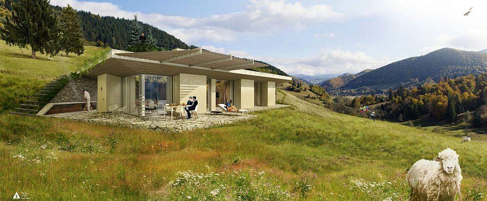 Casele semi-ingropate in pamant, ca in Stapanul Inelelor, prind tot mai mult in Romania! Vezi cat costa si cum se construiesc!