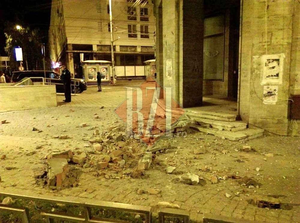 FOTO -VIDEO Ce PAGUBE a lasat in urma cutremurul de azi-noapte! In Iasi s-au PRABUSIT bucati din cladiri!