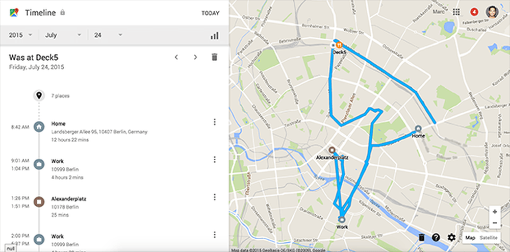 Stiai ca Google iti urmareste FIECARE PAS? Daca nu crezi uite aici harta cu traseul tau de astazi!