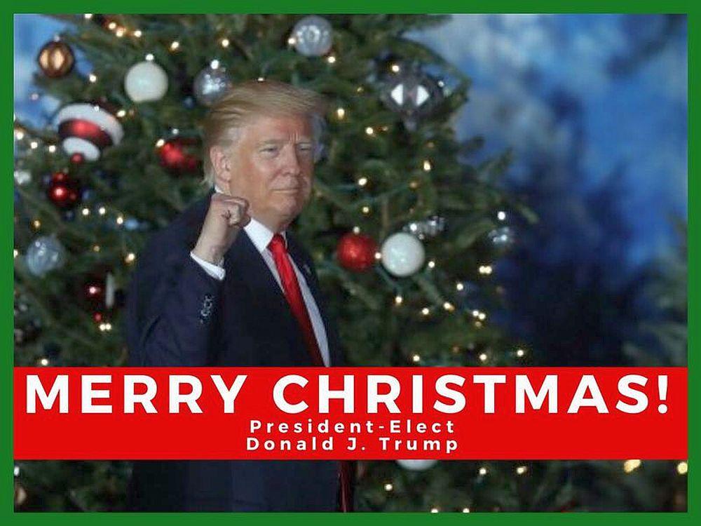 """Mesaj INGROZITOR: Donald Trump UREAZA """"Craciun Fericit!"""" cu PUMNUL in aer!"""