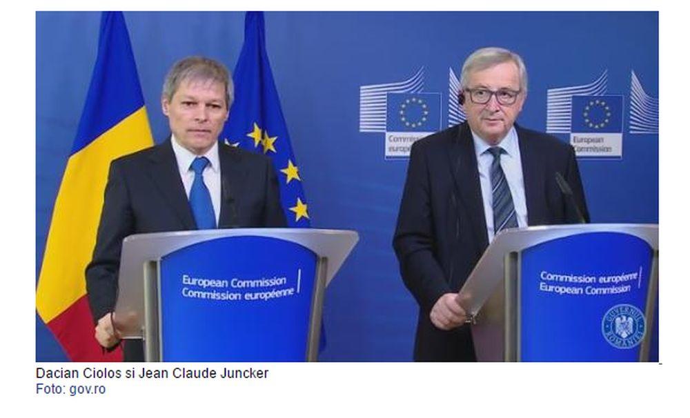 Scrisoarea presedintelui Comisiei Europene pentru Ciolos: Ati reusit ceva FARA PRECEDENT in istoria Romaniei!