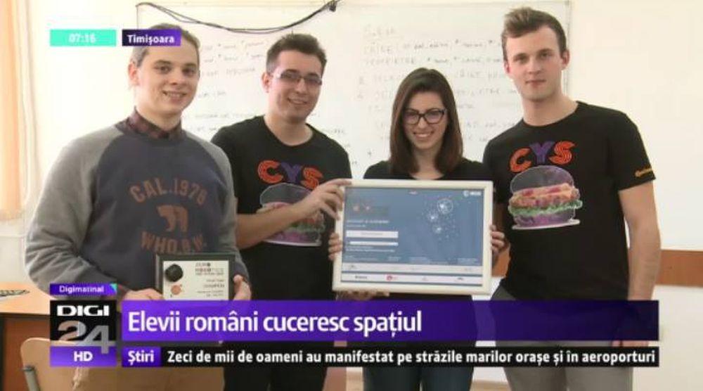 Patru elevi din Timișoara au UIMIT Europa! NASA si-a trimis oameni dupa ei sa-i premieze!