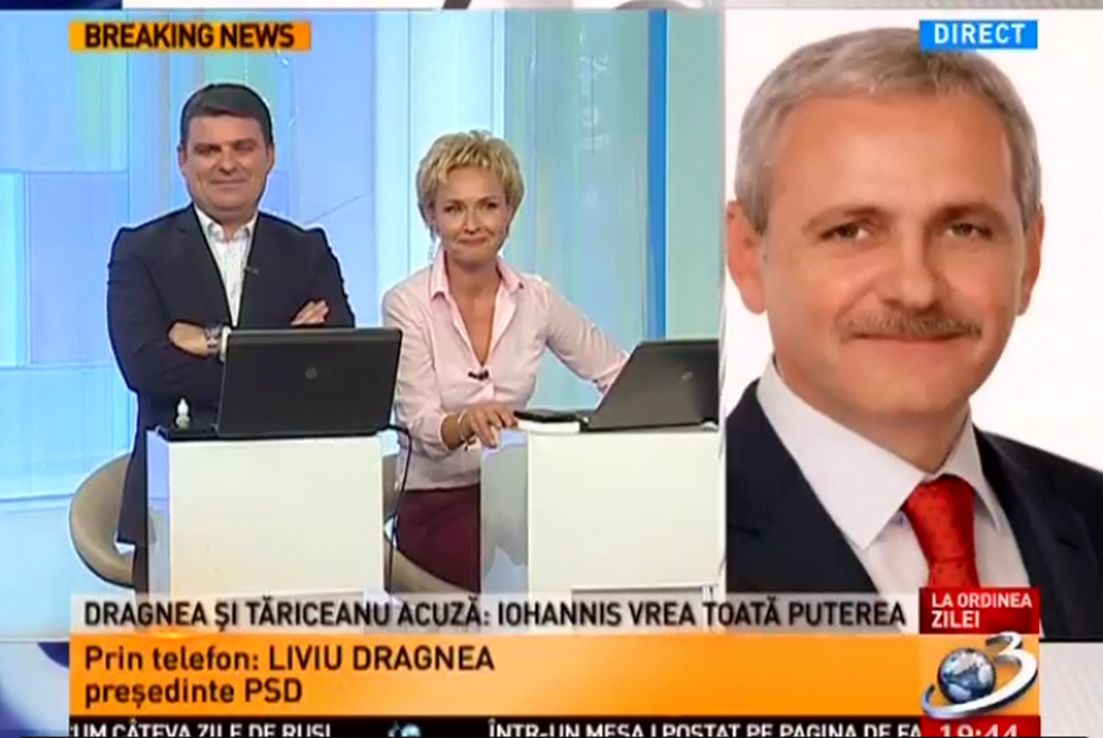 "Scandal la Antena 3! ""N-am vazut in viata mea om mai plictisitor ca Dragnea! Mai bine statea acasa!"""