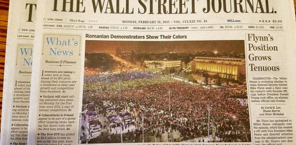 """Cel mai citit ziar din SUA pune TRICOLORUL romanesc pe prima pagina! """"Cruciada IMPOTRIVA coruptiei!"""""""