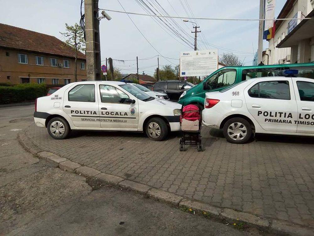 Timisorean amendat cu 900 de lei pentru ca a fotografiat masinile Politiei parcate neregulamentar pe trotuar!