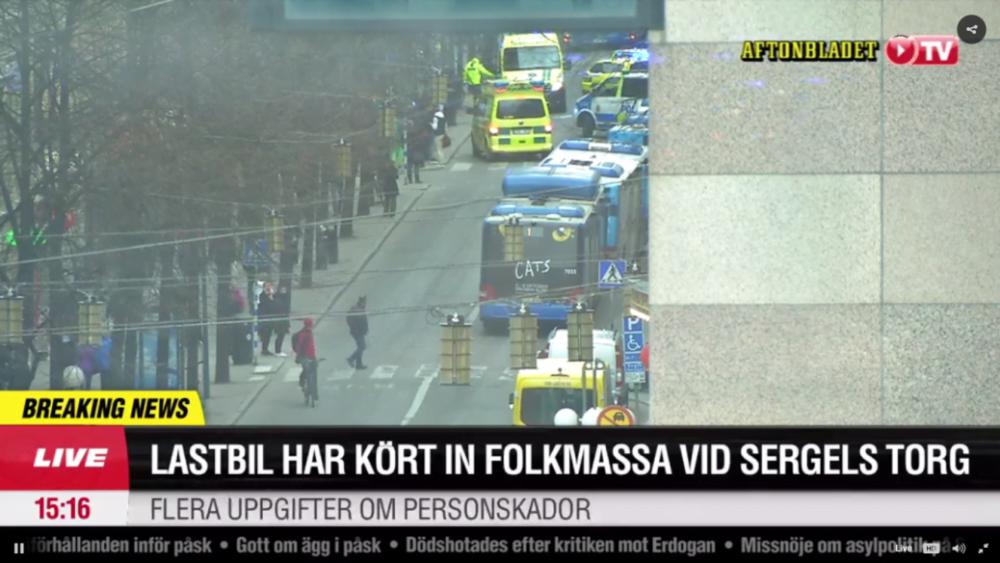 TRAGEDIE! Un camion a intrat cu viteza in MULTIME, la Stockholm! Zeci de victime si MORTI!