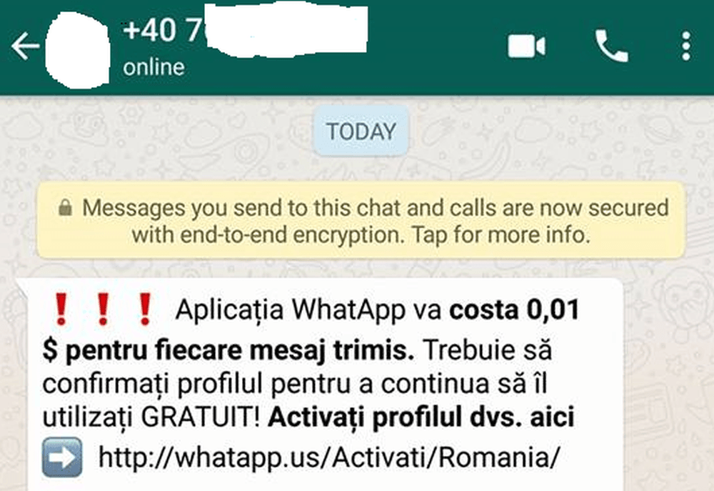 Atentie MARE daca va apare asa ceva pe WhatsApp! E teapa momentului si va lasa FARA BANI!